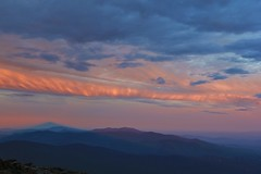 Sunrise colour to the west (rightthewrong) Tags: new shadow white mountains june sunrise washington lafayette mt peak nh franconia hampshire presidential mount observatory summit range obs mwo presidentials 2013