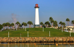 The Lighthouse at Shoreline Aquatic Park (Dave Toussaint (www.photographersnature.com)) Tags: ocean california ca travel sea usa lighthouse nature water photoshop canon landscape one coast photo interestingness interesting day photographer pacific picture hwy clear explore pch highway1 longbeach adobe southerncalifornia 2010 infocus cs6 octobe denoise 40d topazlabs topazadjust photographersnaturecom rdavetoussaint