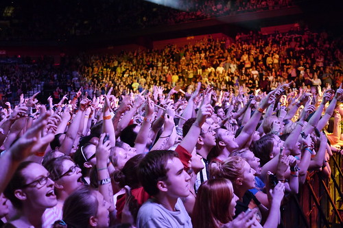 People at rock concert