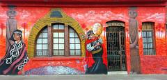 Hostal (Arkaitse) Tags: santiago streetart graffiti mural hostal mapuche callehuérfanos sofrenia