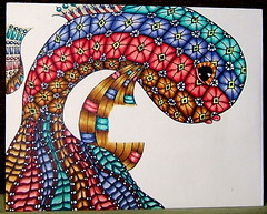 Fische (Scrapacat) Tags: fish doodle copic zentangle