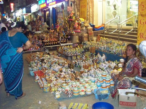 Navratri Golu Dolls Vendors at North Mada St. Mylapore Chennai 1