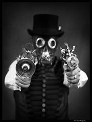 Shaun the Grime Lover 1 MONO (Brian Gort Wildlife Photography) Tags: portrait bw mono steampunk nikond90 nikkor50mmf14lens nostrobistinfo removedfromstrobistpool seerule2 warringtonphotographicsociety