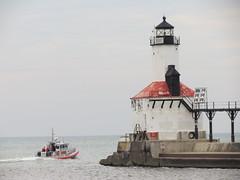 U.S. Coast Guard Boat  - Michigan City, Indiana Harbor (SpeedyJR) Tags: coastguard harbor lighthouses indiana lakemichigan greatlakes uscg michigancityindiana coastguardboat michigancityin michigancitylighthouse speedyjr