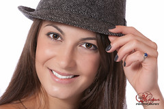Nicole (HassanMphotography) Tags: light brown ontario canada black color sexy eye art texture girl beauty smile look hat smiling pose hair studio photography lights design nicole nice model pretty mood hand head quality background gorgeous gray makeup vivid headshot portraite onwhite brantford bcc studioshoot yonggirl phtorapher hassanphotography yongmodel