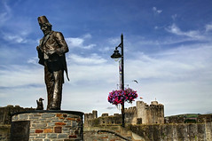 Tommy Cooper Statue, Caerphilly, South Wales (**Anik Messier**) Tags: uk monument statue southwales photography britain caerphillycastle caerphilly tommycoopersociety