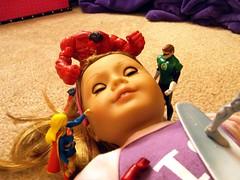 Toy Land Invasion (atjoe1972) Tags: giant actionfigure hope dc doll chaos ag carnage supergirl marvel greenlantern mattel hasbro americangirl toybox agdoll redhulk atjoe1972