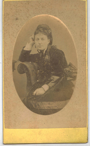 Fancy dress lady CDV