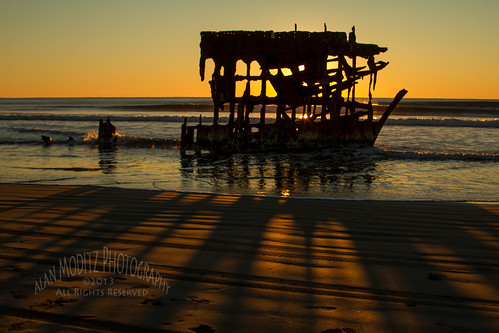 A Winter Sunset at the Peter Iredale