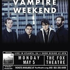 "Tickets for #vampireweekend on sale Friday at 10am • <a style=""font-size:0.8em;"" href=""http://www.flickr.com/photos/8453258@N02/11308777226/"" target=""_blank"">View on Flickr</a>"