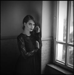 Thinking of you VI (__Daniele__) Tags: portrait 120 film monochrome blackwhite kodak hasselblad medium format schwarzweiss tmy