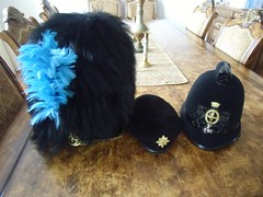 CIMG6717 (brian395) Tags: hats beret fathers blackberet plume bearskin cityoflondonpolice policehelmet curbchain romanhelmet colp 1stbnirishguards 2ndbnirishguards stpatricksblueplume tankberet irishguardscapstar ch2014wk3