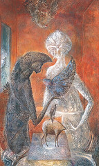 Reflection on the oracle. Leonora Carrington