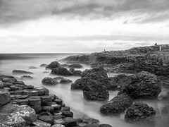 Giant's Causeway (freakyman) Tags: ireland sea bw clouds mar olympus bn nubes northernireland giantscauseway e5 zd weldingglass 1454mm