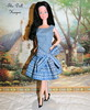 Barbie Snowprincess in OOAK Let's Dance Bow Dress (The doll keeper) Tags: black outfit doll dress ooak barbie bows snowprincess