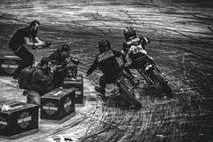 Congestion (R*Wozniak) Tags: blackwhite bw blackandwhite harleydavidson harley flattrack flattrackracing nikond750 milwaukee motorcompany motorbike mamatriedmotorcycleshow flattracker flatoutfriday prewar contrast photographers motorcycle racer racing