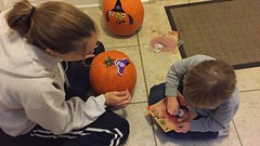 "Mommy and Paul Decorate Pumpkins • <a style=""font-size:0.8em;"" href=""http://www.flickr.com/photos/109120354@N07/32298285053/"" target=""_blank"">View on Flickr</a>"