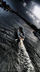The Last River Crossing (Mars Mann) Tags: london riverthames flotilla stormclouds dusk cityscape nightfalls eerie boat marsmannphotography urbancity urbanphoto darkskies