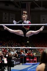 DU Gymnastics - Sam Ogden (brittanyevansphoto) Tags: collegegymnastics ncaagymnastics denvergymnastics unevenbars straddle releasemove hecht