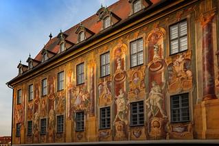 Bamberg, Altes Rathaus Fassadenmalerei