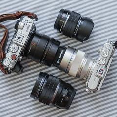 My Camera&Lenses.|出國組合 (里卡豆) Tags: olympus epl8 nokton votgtlander 175mm f095 微單
