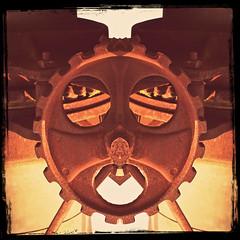 (Scrap) Iron Man (Dave Linscheid) Tags: machinery gear face iron texture textured threshingmachine butterfield watonwancounty mn minnesota