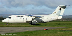 C-FERJ RJ85 Glasgow April 2017 (pmccann54) Tags: cferj rj85 firstair summitair