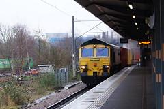 66532 (tombrown3189) Tags: nuneaton felixstowe crewe wrong line working bi directional 66532