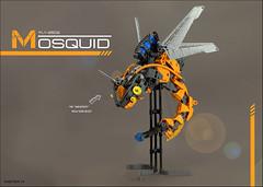 FLY-2502 MOSQUID (Nikita Nikolsky) Tags: lego moc bionicle space sea squid mosquito mosquid mech bug robot