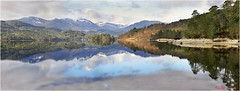 Loch Beinn o Mheadhoin Update (The Terry Eve Archive) Tags: lochbeinnomheadhoinupdate loch affric mountains snow chocolatebox postcard canoe calm reflection