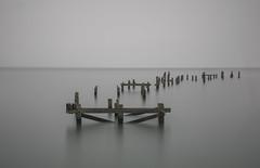 The Pier (Robgreen13) Tags: seascape coastal seaside structure remains pier seagulls longexposure dorset swanage