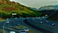 Freeway landscape (Mohammed_Moustafa) Tags: freeway cars ways urbanroad road mountain mountains landscape clearsky sky greencolor farmountains curves