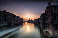 Santa Maria Sunrise (the CAMera of ian CAMpbell; simple) Tags: venice italy venetian camcam grand canal santa maria basilica della salute long exposure