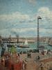 PISSARRO Camille,1903 - L'Anse des Pilotes et le Brise-lames Est, Le Havre, Après-Midi, Temps ensoleillé (Le Havre) - Détail 15