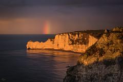 fin d'orage sur Étretat, Normandie, France (boooHguy) Tags: paysages mer sea étretat normandie etretat sunset rainbow arcenciel