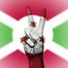 Peace Symbol with National Flag of Burundi