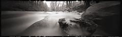 Muddy Creek (DRCPhoto) Tags: zero image 618 pinhole lenslessphotography kodakbw400cn panoramic muddycreek westvirginia