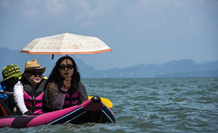 out and about (Greg Rohan) Tags: jamesbond jamesbondisland pink blue shade sunshade boat thailand umbrella sea water photography 2017 d7200