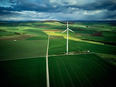 Over the hills and far… (Luzf4) Tags: fields drone blue green clouds windpower mavic dji landscape aerial