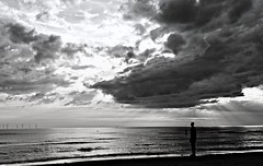 I BELIEVE IN YOU (plot19) Tags: britain british nikon northern north northwest antony gormleys crosby coast england english plot19 photography another place blackwhite black man landscape love light mood