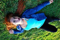 DSC_0354 copia (daniel_soprole) Tags: exterior exteriores mujer mujeres modelo shooting verde green plaza redhead pelirroja