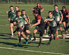 Marshall v. Blackhorse Rugby (SUNY-Fredonia) (Mike McCall) Tags: copyright2017mikemccall stpatricksdayrugbytournament 2017 savannah chathamcounty georgia usa marshall thunderingherd herd sunyfredonia blackhorse rugby sport sports men daffinpark university college