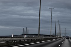 oresund bridge denmark - sweden (GAZ SELLERS) Tags: bridge denmark sweden span long sea sky steel structure engineering oresund water h20 toll e20