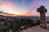 Kurz vor Sonnenaufgang im Park Gueell in Barcelona