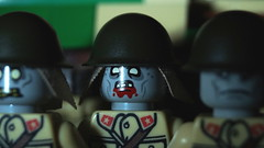 Lego WWII Japanese Zombie soldiers (Force Movies Productions) Tags: lego toy minfig minifigs wwii zombies zombie toys japanese sinojapanese imperial army minifig military scary dark photograpgh photo picture brickmania brickarms bricks brickizimo brickfilm brick soldier custom film world war ii moc troops scene china japan chinese