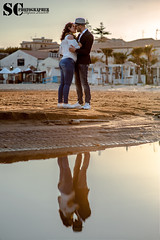 Sunset on the beach (SCarusophotographer) Tags: kiss bacio couple coppia prewedding prematrimoniale pozzallo sicilia sicily love amore sunset beach sea