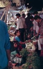 Vegetable Market (Karthik Thorali) Tags: outdoor night urban photography film filmphotography fujifilm natura1600 canon 500n people streetphotography street vegetable market tungsten light
