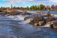 High Flow (James Neeley) Tags: idaho snakeriver idahofalls idahofallsldstemple mormontemple jamesneeley