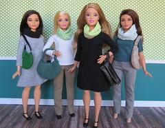 Spring Basics for Curvy Girls (Foxy Belle) Tags: doll handmade sew ooak make diy clothing fabric clothes curvy barbie fashionistas collection scarf dress handbag