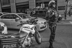 Market Street, 2016 (Alan Barr) Tags: philadelphia 2016 marketstreet marketstreeteast marketeast police street sp streetphotography streetphoto blackandwhite bw blackwhite mono monochrome candid people olympus pennsylvania